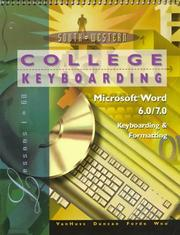 Cover of: College keyboarding, Microsoft Word 6.0/7.0, keyboarding & formatting