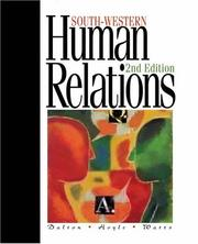 Cover of: Human relations | Marie Dalton