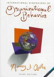 International dimensions of organizational behavior 1997 edition cover of international dimensions of organizational behavior nancy j adler fandeluxe Gallery