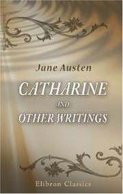 Cover of: Catharine and other writings