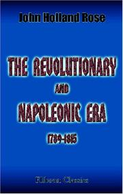 Cover of: The Revolutionary And Napoleonic Era 1789-1815