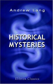 Cover of: Historical Mysteries