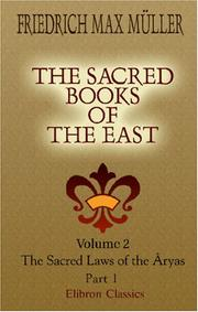 Cover of: The Sacred Books of the East | Friedrich Max MГјller
