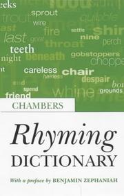 Cover of: Rhyming Dictionary