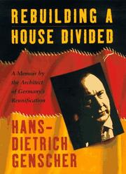Cover of: Rebuilding a house divided