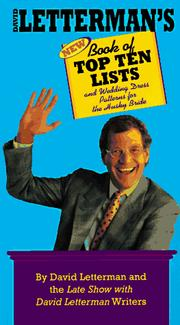 Cover of: David Letterman's new book of top ten lists and wedding dress patterns for the husky bride