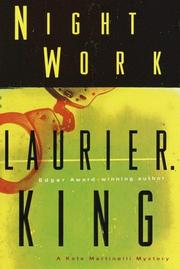 Cover of: Night work | Laurie R. King