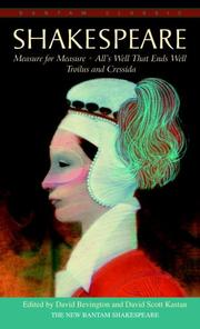 Cover of: Measure for Measure, Troilus and Cressida, and All