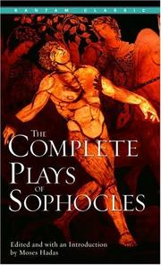 Cover of: The complete plays of Sophocles