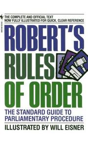 Cover of: Robert's Rules of Order: The Standard Guide to Parliamentary Procedure