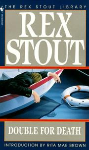 Cover of: Double for Death | Rex Stout