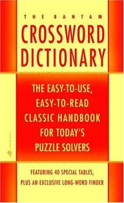 Cover of: The Bantam Crossword Dictionary |