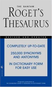 Cover of: The Bantam Roget's Thesaurus