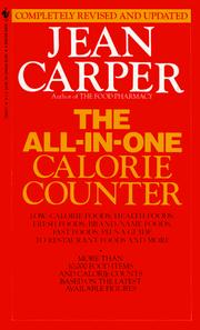 The all-in-one calorie counter by Jean Carper