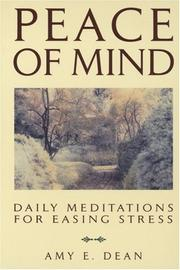 Cover of: Peace of mind