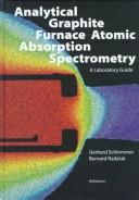 Cover of: Analytical graphite furnace atomic absorption spectrometry