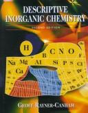 Cover of: Descriptive inorganic chemistry | Geoffrey Rayner-Canham