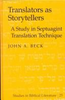 Cover of: Translators as storytellers | Beck, John A.