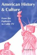 Cover of: American history & culture