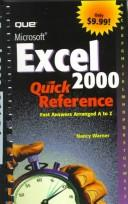 Cover of: Microsoft Excel 2000 quick reference | Nancy D. Lewis
