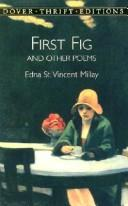 Cover of: First fig and other poems