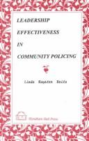 Cover of: Leadership effectiveness in community policing