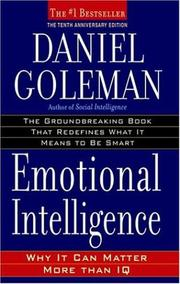 Cover of: Emotional Intelligence by Daniel Goleman
