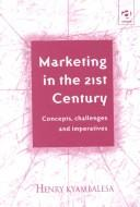 Cover of: Marketing in the 21st century