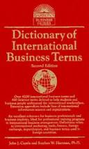 Cover of: Dictionary of international business terms
