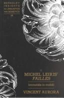 Cover of: Michel Leiris' Failles