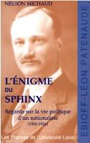 Cover of: L'énigme du Sphinx