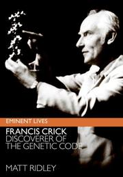 Cover of: Francis Crick | Matt Ridley
