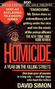 Cover of: Homicide