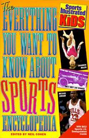 Cover of: The everything you want to know about sports encyclopedia | Cohen, Neil