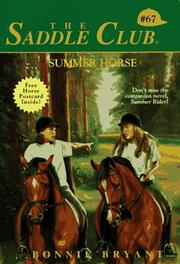 Cover of: Summer Horse | Bonnie Bryant