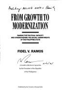 Cover of: From growth to modernization | Fidel V. Ramos