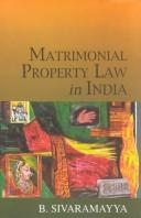 Matrimonial property law in India