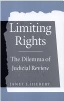 Cover of: Limiting rights | Janet Hiebert