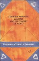 Cover of: Sentence analysis, valency and the conept of adject |