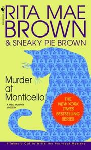 Cover of: Murder at Monticello