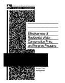 Effectiveness of residential water conservation price and nonprice programs by Ari M. Michelsen