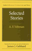 Cover of: Selected stories | Aleksandr Fomich VelК№tman
