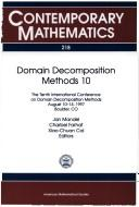 Cover of: Domain decomposition methods 10