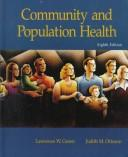 Cover of: Community and population health