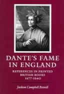 Cover of: Dante's fame in England