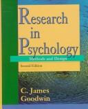 Cover of: Research in psychology | C. James Goodwin