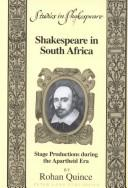 Cover of: Shakespeare in South Africa