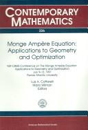 Cover of: Monge Ampère equation