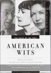 Cover of: Voice of the Poet: American Wits | Phyllis Mcginley