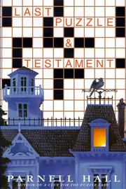 Cover of: Last puzzle & testament
